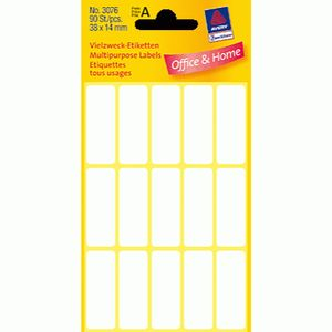 AVERY 3076 Handwriting labels 38x14 (PK à 90 stk) (3076*10)