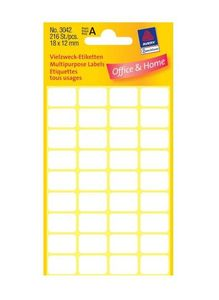 AVERY 3041 Handwriting labels 18x12 (216) (3042*10)