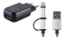 MERSKAL Dual  Charger Kit  (Android + Apple)
