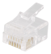 DELTACO Modular Connector 6P6C RJ12, 20-pack
