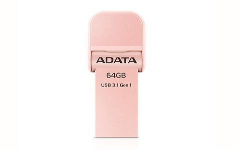 A-DATA Adata i-Memory Flash Drive AI920, 64GB, Lightning / USB 3.1 Gen1, rose-gold (AAI920-64G-CRG)