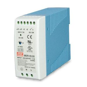 PLANET POWER SUPPLY 40W 24V DC SINGLE OUTPUT INDUSTRY DIN RAIL ACCS (PWR-40-24)