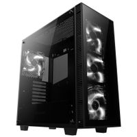 AI-Crystal Midi-Tower,  Tempered Glass - schwarz