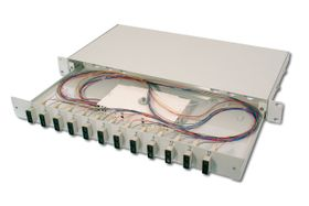 FIBER OPT.SPLICE BOX, 12XSC,OM3 EQUIPPED CABL