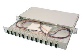 FIBER OPT.SPLICE BOX, 24XSC,OS1 EQUIPPED CABL