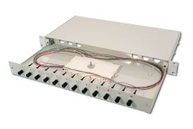 FIBER OPT.SPLICE BOX, 12XST,OM3 EQUIPPED CABL