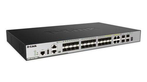 D-LINK 28-PORT FIBER GB STACK SWITCH (SI) LAYER 3                     IN WRLS (DGS-3630-28SC/SI)