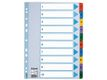 ESSELTE Mylar indices A4 1-10 Multicolour