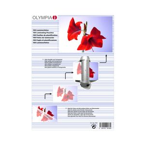 OLYMPIA 1x25 Laminating pouches DIN A4 80 micron (9181)