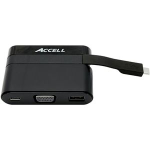 ACCELL Docking Station USB-C Mini VGA USB3 USB-C (U205B-001B)