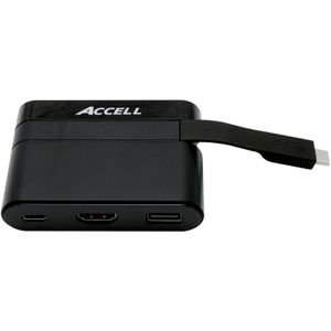 ACCELL Docking Station USB-C Mini HDMI2 USB2 USB-C (U206B-001B)