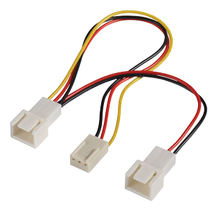 3 pin female to 2 * 3 pin male (fan) spiltter cable