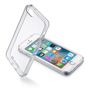 CELLULAR LINE CL Clear Duo for iPhone SE, Klar Gjennomsiktig Plastdeksel m/ Gummiramme (CLEARDUOIPH5T)