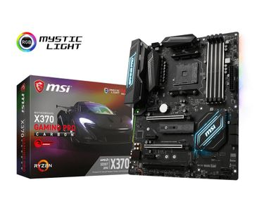 MSI X370 GAMING PRO CARBON AMD ATX AM4 Socket 4xDDR4 motherboard (X370 GAMING PRO CARBON)