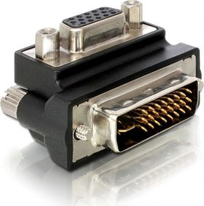 DELOCK Kabel Adapter 29pin DVI-St.>VGA-Bu. 90°abge (65172)