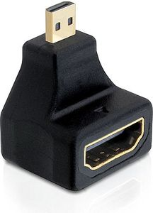 DELOCK HDMI High Speed with Ethernet adapter, Micro HDMI ha - HDMI ho (65270)