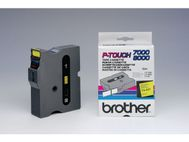P-TOUCH Tape BROTHER TX-651 24mmx15m sort/gul (TX651)