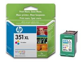 351XL Tri-colour Inkjet Print Cartrid with Vivera Inks