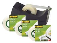 SCOTCH Tape SCOTCH Magic 810 19x33 4pk m/disp (SM DEAL M/SVART DISP. C-38)