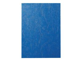 comb binding cover leather blue (100)