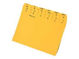 ESSELTE Card Index for Cardo A5 A-Å yellow (935692)