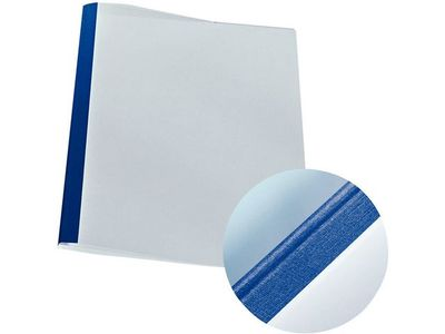 LEITZ Cover thermal leather blue.1, 5mm (25) (177118)