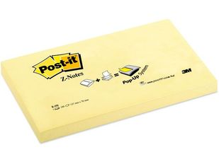 3M Notes POST-IT Z-block 76x127mm gul (3700178*12)
