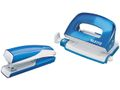 LEITZ Stapler & Hole punch set Mini WOW Blue