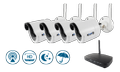 KGUARD SECURITY Kguard, 4 IP cameras with receiver, Wireless, 150m, 720p, white