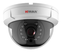 HIWATCH analoginen kupukamera, 1MP, 720p, 2,8-12mm, IP66, IR, valk.