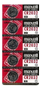 MAXELL coin cell battery, lithium, 3V, CR2032, 5 pieces