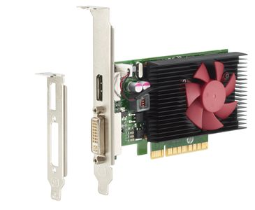 HP NVIDIA GeForce GT730 - Graphics card - GF GT 730 - 2 GB DDR3 - PCIe x8 low profile - DVI, DisplayPort - for ProDesk 400 G4 (micro tower, SFF) (Z9H51AA)