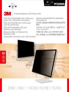 3M Framed Privacy Filter for 20 Widescreen Monitor (16:10) (PF200W1F)