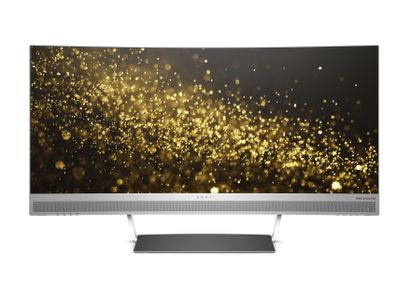 "HP Envy W3T65AA WQHD Curved Display 34"" 3440x1440,  21:9, 6ms, 5M:1, HDMI/ 3xUSB/ Display Port. Sort/sølv (W3T65AA#ABB)"