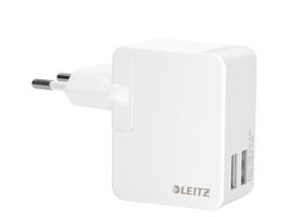Complete Charger USB Wall Dual Unive.EU 12W White