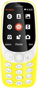NOKIA 3310 3G RETRO DUAL-SIM YELLOW (A00028690)