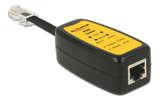 DELOCK PoE tester (Power over Ethernet),  802.3af/ at,  black/ yellow