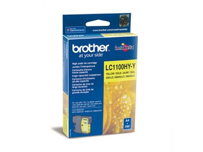 BROTHER DCP6690CW/ 6490,  Yellow Ink (LC1100HYY)