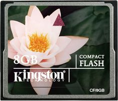 KINGSTON Flash card CF  8GB Kingston (CF/8GB)