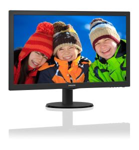 PHILIPS Monitor 243V5LSB5/ 00,  24inch, TN, Full HD, DVI, D-Sub (243V5LSB5/00)
