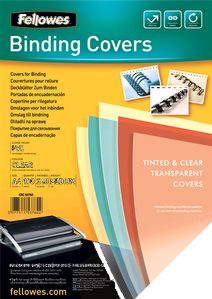 FELLOWES Binding Covers A4 Clear PVC   240 Mikron (53762)