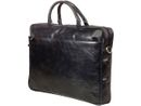 DBRAMANTE1928 Leather briefcase Amalienborg up to 16'' - Black
