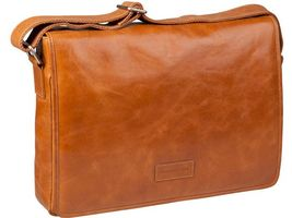 Leather messenger bag Marselisborg up to 14'' - Golden tan