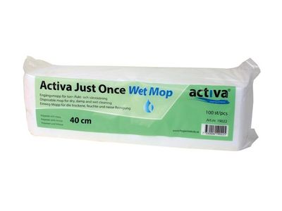Activa Engangsmoppe Just Once Wet 40cm 100/pk (19022)