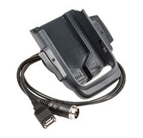Vehicle Dock w/ hard wired 3-pin power cable and a standard USB Type A cable. Mounting (805-611-001) and vehicle power connection (226-109-003 or -004) kits sold separately.