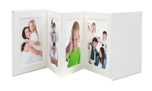 Leporello white 8x13x13 faux leather 8 photos A66DC1 8PH