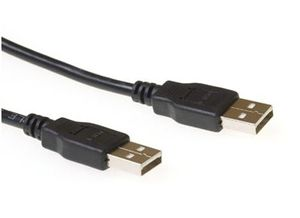 ACT USB2 Kabel A-A -  3,0 m Spesial A-A USB Kabel Sort (SB2530)