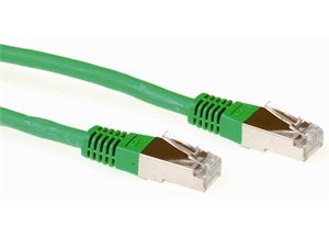 ACT SSTP patchcords CAT6 LSZH GRØNN, 5 meter (FB 9705)