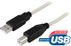 DELTACO CABLE USB 2.0 KABEL TYP A HANE TYP B HANE  2M  BEIGE NS