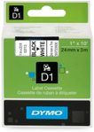 DYMO D1 Labeltape 24mm Sort/Hvid